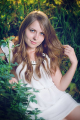 Victoria M. (Stefan Botnari) Tags: light sun white green girl nikon dress sweet sigma os gras 28 70200 hsm
