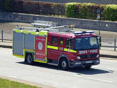 AE07HXA (Emergency_Vehicles) Tags: road london station fire airport heathrow tunnel ladder dual purpose brigade 1325 1281 hillingdon dpl lfb hxa ae07 g231 ae07hxa dpl1281