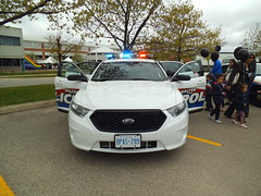 Halton Regional Police Ford Taurus (car show buff1) Tags: rescue ontario canada ford logo chief tahoe police victoria crest chevy dodge crown ladder squad incident ems charger pursuit commander caprice pumper ppv battalion halton f250