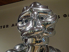 shiny robot face (Shockingly Tasty) Tags: sf sanfrancisco sculpture art museum robot modernart sfmoma