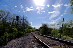 Choo Choo (I'mChappy) Tags: railroad train university michigan tracks sunny arbor uofm choo ann umich