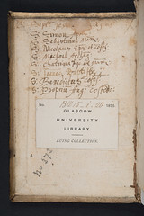 Manuscript notes in Thomas  Kempis: Imitatio Christi (University of Glasgow Library) Tags:  notes thomas christi manuscript select imitatio kempis