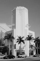Sears Tower (Phillip Pessar) Tags: camera bw white black tower art film analog 35mm freedom minolta florida kodak miami sears dual deco tx400