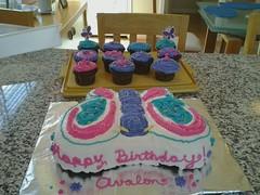 Butterfly cake by Brenda L. Santa Cruz, CA, www.birthdaycakes4free.com