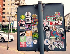 bacau_combo3 (ScoRe21:WoTS!) Tags: city sign by sticker traffic romania characters score combo sticked slaps bacau