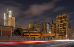 Cement Works Night (Zaika_LaMala) Tags: night work noche nikon cement nocturna zaikai zaikalamala