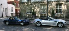 1999 TVR CHIMAERA - 1999 BMW Z3 3.2 (shagracer) Tags: tvr chimera 500 convertible targa top bmw z3 soft rag open sports british german vehicle v744gdp queen square bristol classic car meet adc breakfast club avenue drivers
