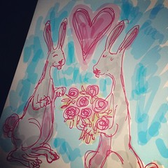 #bamboostylus #drawing #rabbits (godcillamella) Tags: square sierra squareformat iphoneography instagramapp uploaded:by=instagram