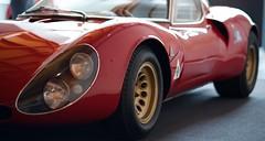 Alfa Romeo 33 Stradale (AperturePaul) Tags: red classic car museum nikon den 85mm alfa romeo haag thehague stradale d600 louwman
