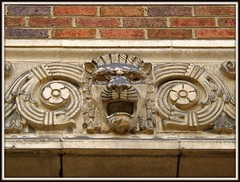 Lion's Head, Sculptural Relief: Former Detroit Fire Department Headquarters--Detroit MI (pinehurst19475) Tags: city downtown michigan detroit headquarters dfd larnedstreet detroitfiredepartment sculpturalrelief