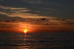 Sunset (vartkesn) Tags: light sunset shadow sea sky lebanon cloud sun sunlight water clouds lights mediterranean day waves skies shadows ripple horizon wave ripples mediterraneansea liban pwpartlycloudy