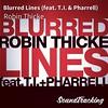 "Ahora suena  ♫ ""Blurred Lines (feat. T.I. & Pharrell)"" de Robin Thicke vía #soundtracking"