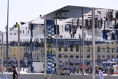 Vieux Port Pavillon (oxfordblues84) Tags: france reflection building architecture port reflections marseille tourists unescoworldheritagesite pedestrians provence ncl shoreexcursion norwegianspirit fosterpartners norwegiancruiseline 5photosaday europeanculturecapital norwegianspiritcruise vieuxportpavillon