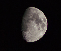 74% illuminated 10 day old moon 14/09/13 (Themagster3) Tags: moon nightsky canon600d
