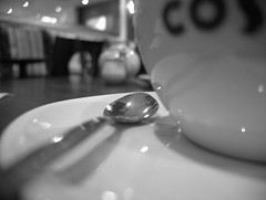 time for a break (Hebetheclick) Tags: uk white black coffee scotland tea 10 spoon x fujifilm kilmarnock cuo 2013 mdpd 201309