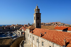 Dubrovnik from the wall, Croatia (iancowe) Tags: old city tower church wall town catholic harbour monastery walls balkans dubrovnik adriatic