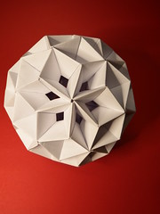 Simply modular (fdecomite) Tags: origami hexagonal sphere modular math concave tomoko penrose fuse unit polyhedron quadrilateral
