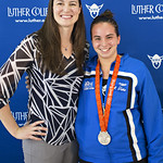 """<b>Aquatic Center Dedication of Service_100413_0218</b><br/> Photo by Zachary S. Stottler Luther College '15  Above: Christine Magnuson, two time Olympic Silver Medal winner, poses with various fans at the Luther College Service of Dedication for the new Aquatic Center.<a href=""""http://farm8.static.flickr.com/7303/10096002605_acbca26212_o.jpg"""" title=""""High res"""">∝</a>"""