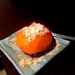 一年ぶりに、柿な粉登場。 これ食うと、秋だなって思ふ #柿 #きな粉