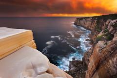 Cheese Block - Bundeena (stevoarnold) Tags: sunset sydney australia nsw bundeena bushfire royalnationalpark rnp cheeseblock