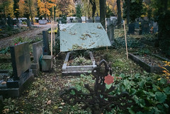 21.10.2013_Jewish_cementery_Autumn_2part-163.jpg (Churechawa) Tags: life park original autumn light shadow color art leave strange beauty cemetery grave graveyard mystery composition contrast death holocaust leaf nice interesting mood moody fuji prague time headstone atmosphere clear shore harmony memory gravestone jew jewish romantic fujifilm churchyard passing easy striking jewishcemetery banal burialground tonal mortality banality endoflife williameggleston decease 2013 fujifims5pro olsanycemetery