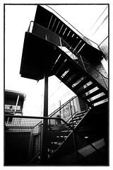 the same dead end (keith midson) Tags: blackandwhite stairs fire stair escape stairwell staircase tasmania utas