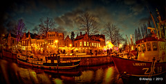 Winterwelvaart,Groningen stad,the Netherlands,Europe (Aheroy) Tags: winterwelvaart winter tonemapped town trees water singlerawhdr stad strange street surreal netherlands nederland fisheye fun groningen city clouds colours beautifulgroningen aheroy aheroyal architecture art arts canonef815mmf4lfisheye dutch europe holland ships boats canal blinkagain zk18 photographyforrecreationclassic hdr harbour houses bateaux barcos