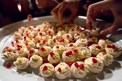 Baby Meringues (Nick Young Photos) Tags: newzealand party food baby cooking dessert baking hands finger fingers cream pomegranate mini fresh nz bake serving meringue baked meringues