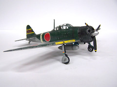 1/48 Mitsubishi Zero (Fujimi) (AC Studio) Tags: scale model fighter plan plastic making zero mitsubishi fujimi 148
