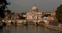 St Peters from Ponte Umberto 1