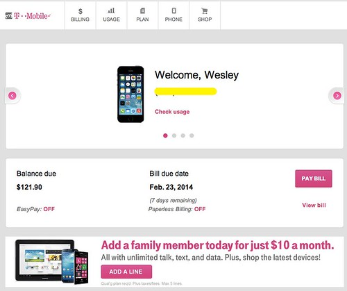 T-Mobile Bill by Wesley Fryer, on Flickr