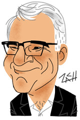 Caricature of Steve Martin.... (Caricatures by Zach!) Tags: sanfrancisco digital caricature stevemartin ipad caricaturist zachtrenholm©