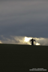 A Lonely Job (DMeadows) Tags: light cloud sun field birds silhouette standing landscape person climb coast scotland scary view farm low hill north scarecrow meadow coastal crop figure crops backlit crow scared scare berwick deterrent berwicklaw deter davidmeadows dmeadows davidameadows dameadows