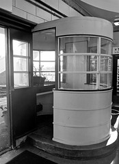 Ticket Booth (Lydie's) Tags: bw station artdeco railways wirral ticketbooth hoylake