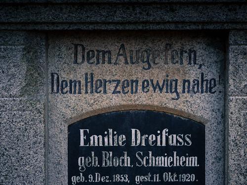 """Dem Auge fern, dem Herzen ewig nah"" | ""Far from the eyes, close to the heart"" | Jewish cemetery Schmieheim, Germany"