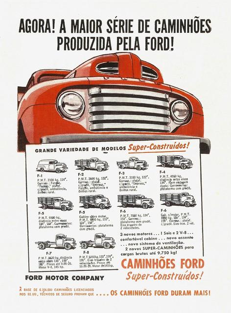 brazil ford truck trucks 1949 fseries