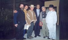 Con Talo Pinto, Profesor Hugo Vargas, Don Arnoldo Madariaga Encina, Maestro de la Poesía Popular, Don Hernán Núñez