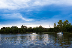 The Lotus Bay (David Tao Photography) Tags: water sailboat dawn boat twilight paint sailing tranquility australia serenity canberra parliamenthouse