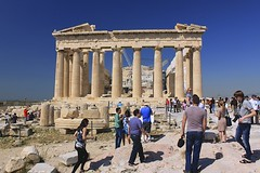 Parthenon (oxfordblues84) Tags: blue sky people building architecture temple columns bluesky athens tourists unescoworldheritagesite unesco parthenon greece acropolis athena doric pericles greektemple ncl ancientruins shoreexcursion norwegianspirit doricorder norwegiancruiseline ancientgreekruins theparthenon phidias iktinos kallikrates norwegianspiritcruise norwegianspiritshoreexcursion