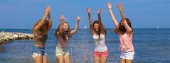 Splash! (AngelBeil) Tags: girls water harbor friendship bestfriends herrington splashing rosehaven