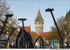 Ravensburg, Marienplatz und Grüner Turm (to.wi) Tags: kunst skulptur stadt turm bauwerk marienplatz ravensburg badenwürttemberg towi grünerturm