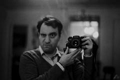 L'œil du photographe - The photographer's eye [Selfie & Camera porn (Leica R5 + Summilux 50)] (Max Sat) Tags: analog bw f14 film france ilfordhp5 leicar5 nb noiretblanc paris summiluxr5014 selfie cameraporn summilux 50mm eye eyes maxsat maxwellsaturnin grimace œil 75006 homme soir nuit night chiaroscuro clairobscur portrait man lumière lumières lumière lights light saintgermaindesprés saintgermaindesprés saintgermain mains main hands miroir mirror selfportrait funnyface portraits unexplored