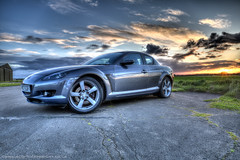 Mazda RX8 HDR (Scott Cartwright Photography) Tags: sunset canon mazda hdr highdynamicrange mazdarx8 wankle mazdarotary scottcartwright shrewsburyphotographer shrewburyfreelancephotographer scottcartwrightphotography