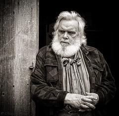 Old Man of the Mountain (montrealmaggie) Tags: portrait blackandwhite man quebec