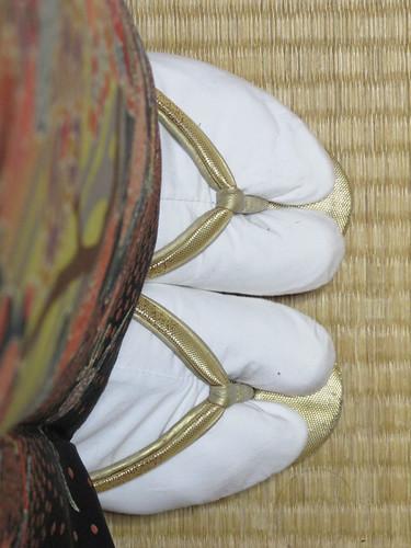 Essayage de kimono et tongs assorties, Nagoya, Japon