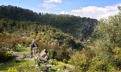 Sarcophagi in Pınara (VillaRhapsody) Tags: landscape roman historical fethiye lycian preroman pınara amphytheater