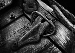 Latched (arbyreed) Tags: old blackandwhite bw abandoned closeup vintage close machine forgotten disused oldmachine arbyreed woodenwashingmachine