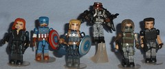MiniMates - Captain America 2 (Darth Ray) Tags: winter black art classic america soldier uniform captain falcon brock stealth marvel widow asylum the minimates 2packs rumlow