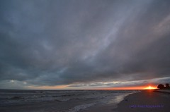 Sunset on a Stormy Day (AZSunsets) Tags: sunset sky storm beach gulfofmexico weather clouds island florida shore sanibel seashore justclouds