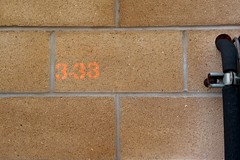 333 (Man with Red Eyes) Tags: leica test orange brick sign wall digital stencil number m8 lancaster leicam8 incamerajpeg autoiso zeissbiogon35mmf20 biogont235